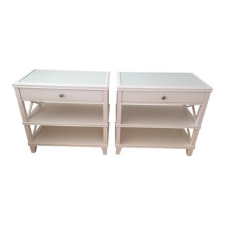 Pottery Barn White Bedside Tables - A Pair