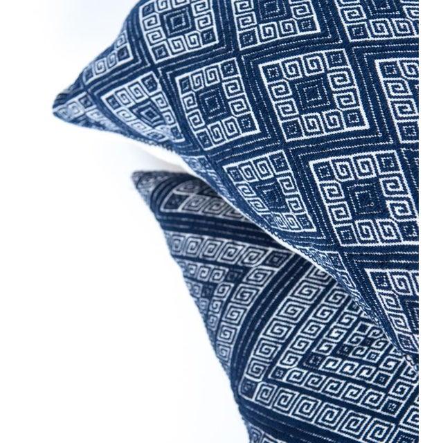 Image of Navy Diamond Handwoven Pillow