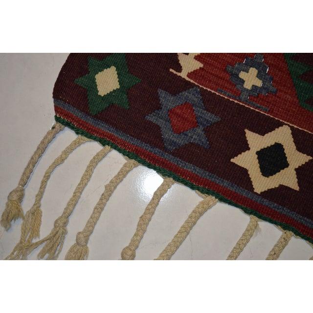 Hand-Woven Turkish Flatweave Rug - 2′7″ × 3′7″ - Image 2 of 9