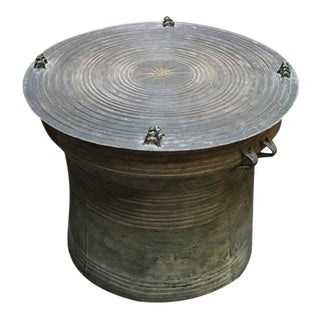 Burmese Shan Bronze Rain Drum Side Table