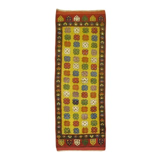 Yellow Vintage Turkish Konya Rug - 2′1″ × 5′3″