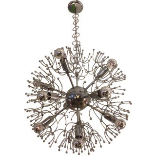 Italian Chrome Ball Sputnik Chandelier