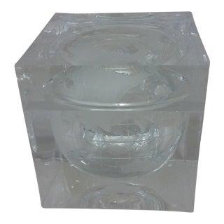Alessandro Albrizzi Lucite Globe Ice Bucket