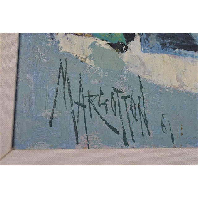 Rene Margotton Mid-Century Expressionist French Oil Painting - Image 4 of 5