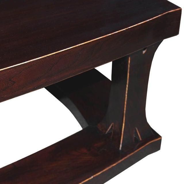 Elm Wood Coffee Table - Image 3 of 4