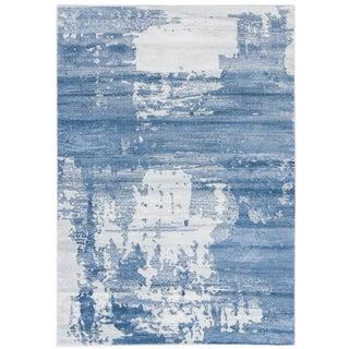 Abstract Art Blue Rug - 4'x 5'8''
