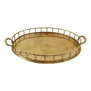 Mottahedeh Brass Faux Bamboo Tray
