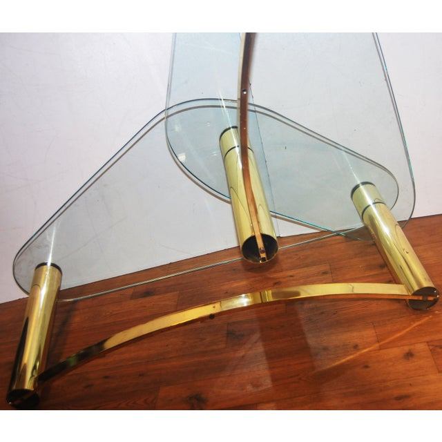 Image of 1970s Tubular Brass & Glass Two-Tier Coffee Table