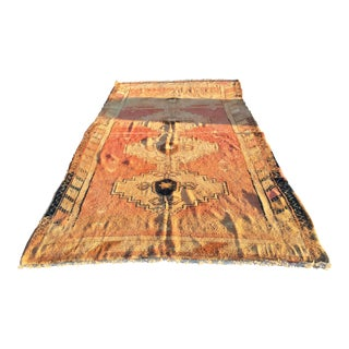 "Vintage Turkish Oushak Large Soft Weave Rug - 5'10""x11'2"""