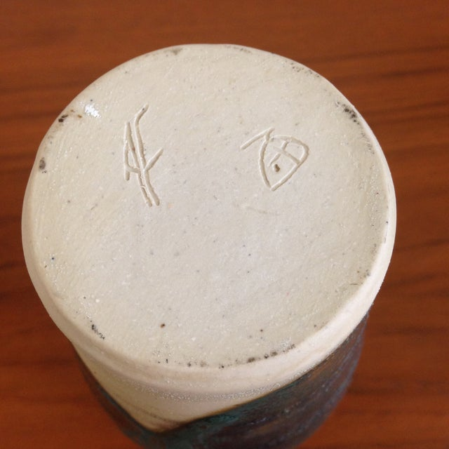 Teal Petite Ceramic Vase - Image 5 of 6