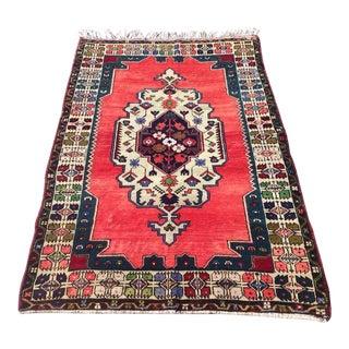 Vintage Anatolian Rug - 3′9″ × 5′9″