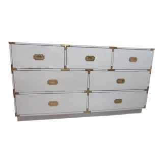 Chinoiserie White Campaign Dresser