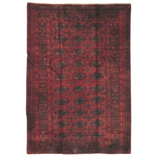 """Vintage Tekkeh Wool Area Rug - 4'5"""" X 6'4"""""""