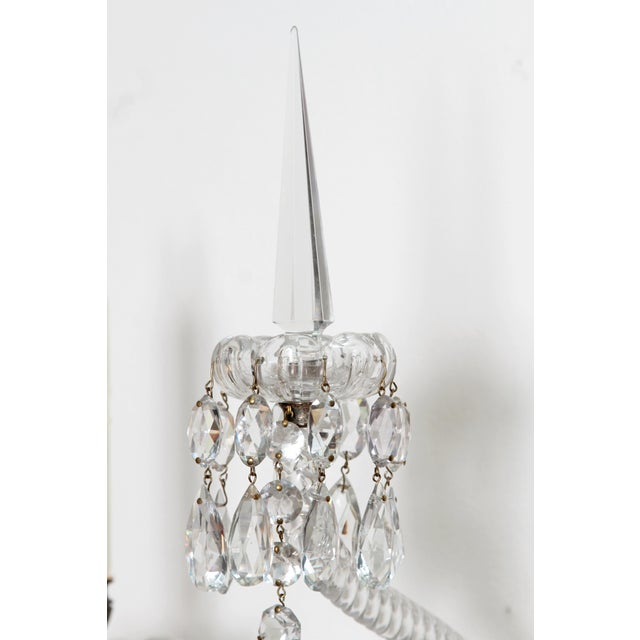 Two Pair of Exceptional F. & C. Osler Crystal Sconces - Image 4 of 11