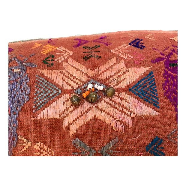 Antique Embroidered Textile Pillow - Image 5 of 8