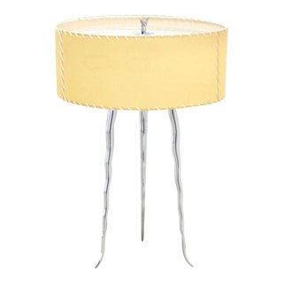 Cast Metal Horn Shape Tri-Leg Table Lemp