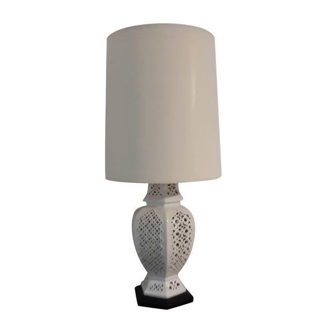 Vintage blanc de chine jar table lamp chairish for Table de chine