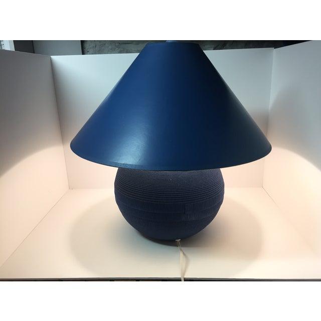 Image of Vintage Gregory Van Pelt Blue Lamp & Shade