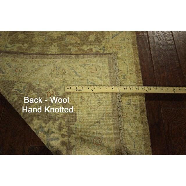 Image of Hand Knotted Wool Mocha Chobi Runner - 3' x 10'