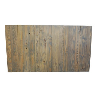 Queen Size Hanger Barn Walls Headboard in a Classic Gray Stain