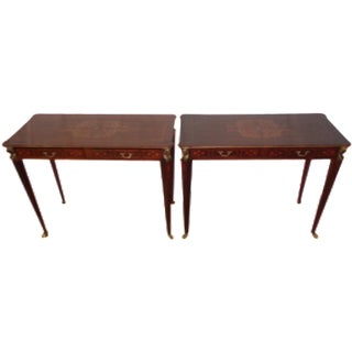 French Inlay Accent Tables - A Pair