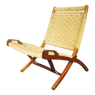 Mid Century Hans Wegner Style Rope Chair