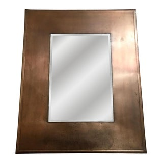 Contemporary Copper-Toned Tin Mirror