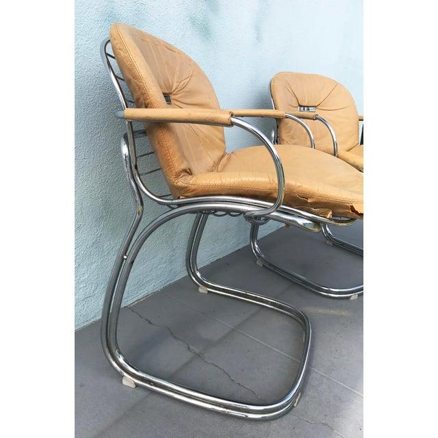 1970s Gastone Rinaldi for Rima Linea Chrome Tubular Chairs - A Pair - Image 9 of 9