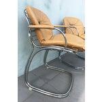 Image of 1970s Gastone Rinaldi for Rima Linea Chrome Tubular Chairs - A Pair