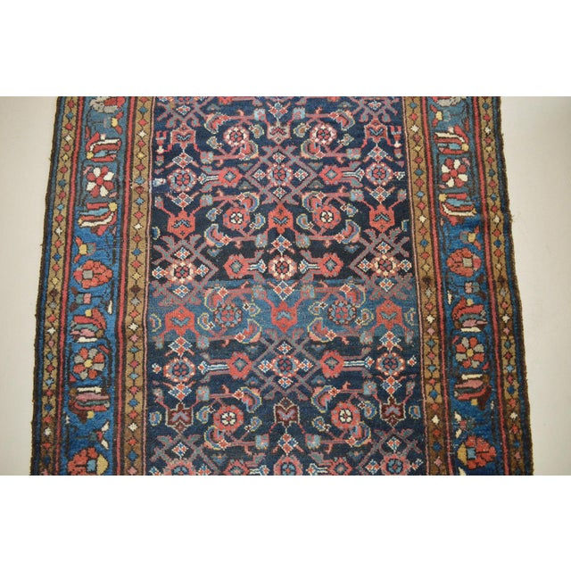 """Antique Persian Wide Runner- 3'10"""" X 9'7"""" - Image 7 of 11"""