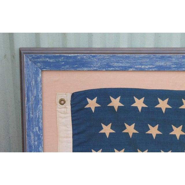 Monumental 46 Star Framed American Flag from 1909 - Image 2 of 6