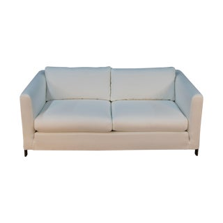 Erwin-Lambeth White Sofa with Brass Frame