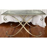 Image of Antique Mirrored Top & Metal Legs Coffee Table