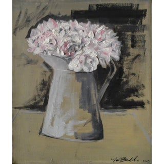 """Peonies In a Watering Can"" Painting"