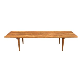 60s Slatted Teak Bench / Table