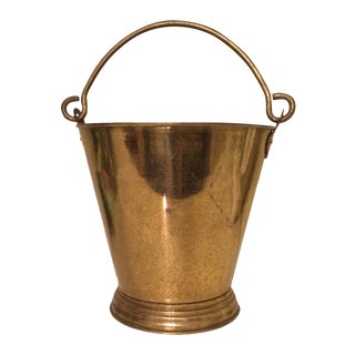 Vintage Brass Bucket with Handle