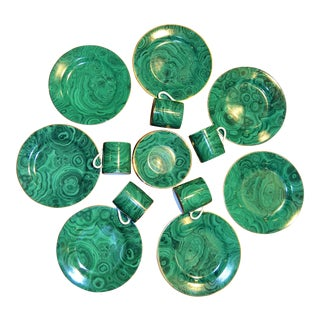 Neiman Marcus Malachite Dinnerware - Set of 19