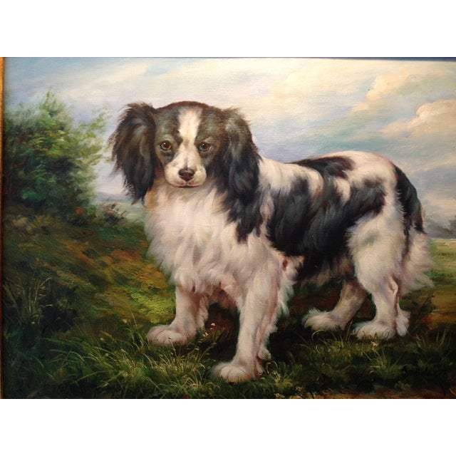 Oil Portrait King Charles Spaniel With Gold Frame - Image 5 of 5