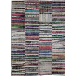 """Hand Knotted Antique Patchwork Kilim - 9'3"""" x 6'6"""""""