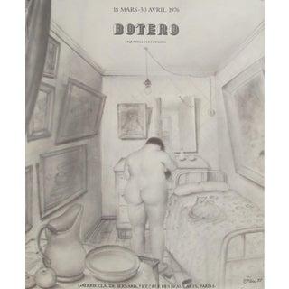 1976 Original Botero Watercolours and Drawings Exhibition Poster - Galerie Claude Bernard