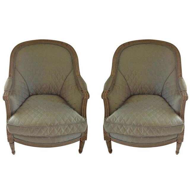 Pair of 19th Century French Bergeres - Image 8 of 8