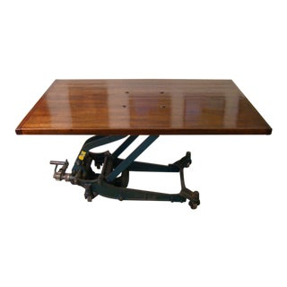 Re-Purposed Modern Articulating Coffee Table / Dining Table