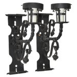 Image of Antique Wrought Iron Wall Sconces - Pair