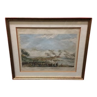 19th Century Hand Colored French Battle Engraving