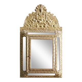 Vintage Brass Cabinet Mirror