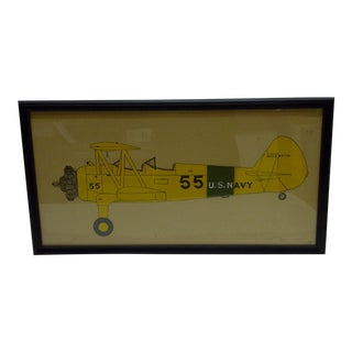 Vintage 55 U.S. Navy Airplane Drawing