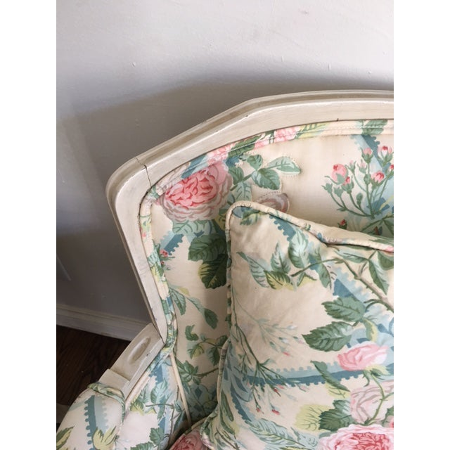 Shabby Chic Floral Bergere Chairs - A Pair - Image 11 of 11