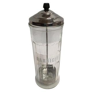 Vintage Mid-Century Barber Shop Disinfectant Jar