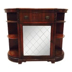 Image of Vintage Mahogany Mirrored Console Chest
