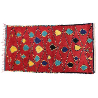 Vintage Berber Moroccan Rug With Modern Tribal Design- 4′4″ × 7′9″
